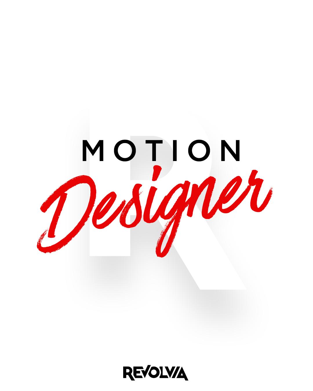 Motion Designer arıyoruz!